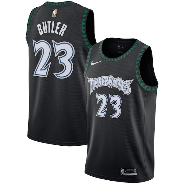 Men's Minnesota Timberwolves Jimmy Butler Nike Black Hardwood Classics Swingman Jersey